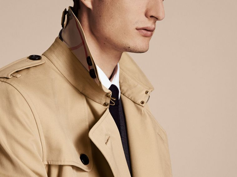 Miel Trench coat Kensington - Trench coat Heritage corto Miel - cell image 4