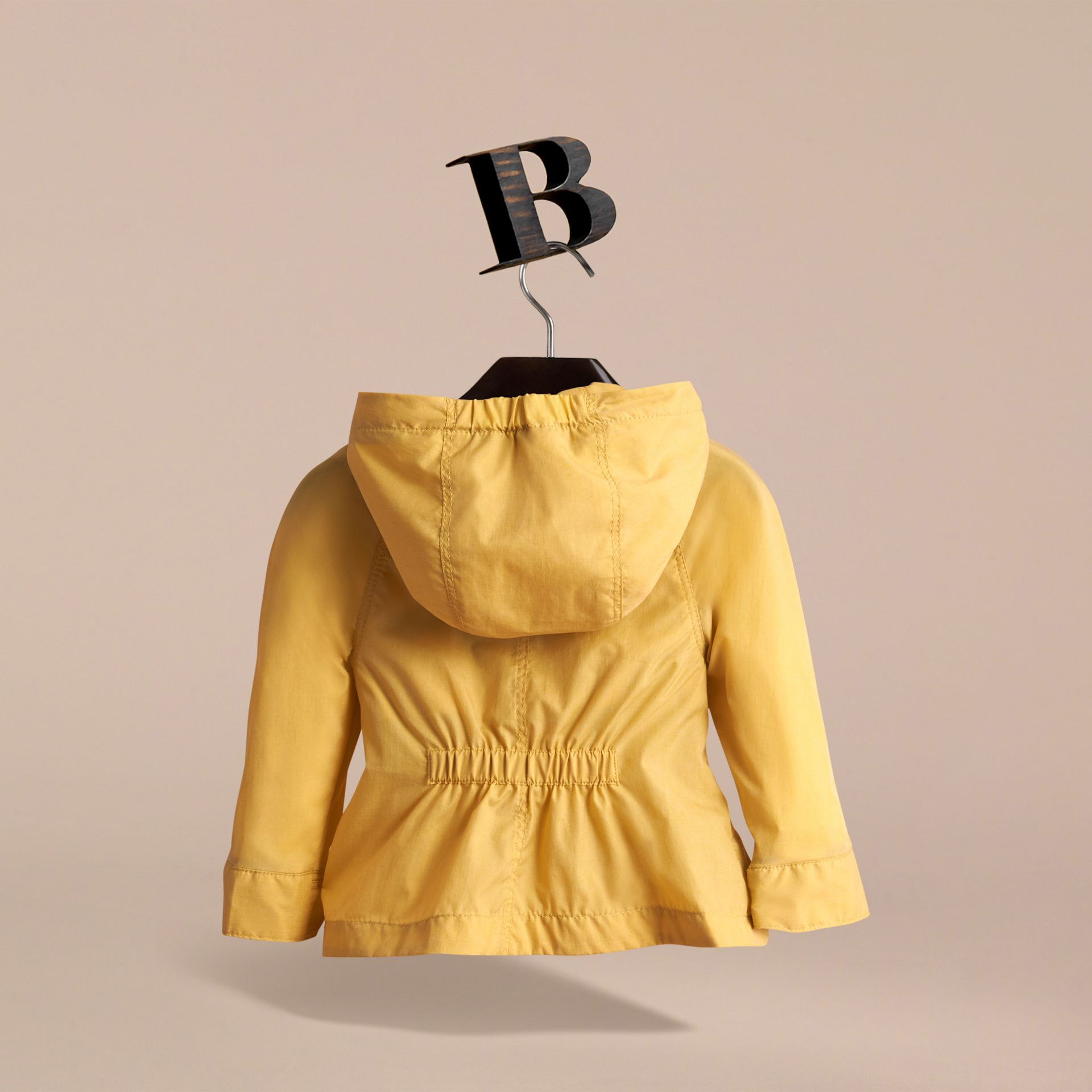 Showerproof Hooded Jacket in Gorse Yellow | Burberry - gallery image 4