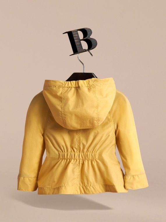 Showerproof Hooded Jacket in Gorse Yellow | Burberry Australia - cell image 3
