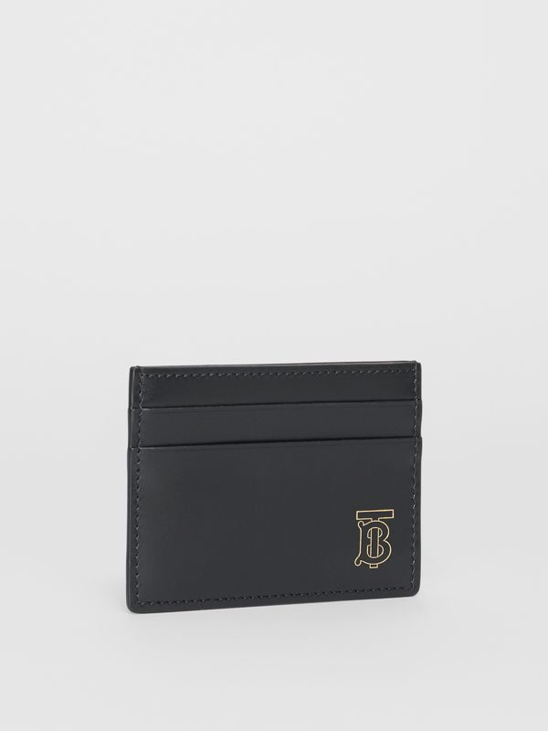 Monogram Motif Leather Card Case in Black | Burberry Canada - cell image 3