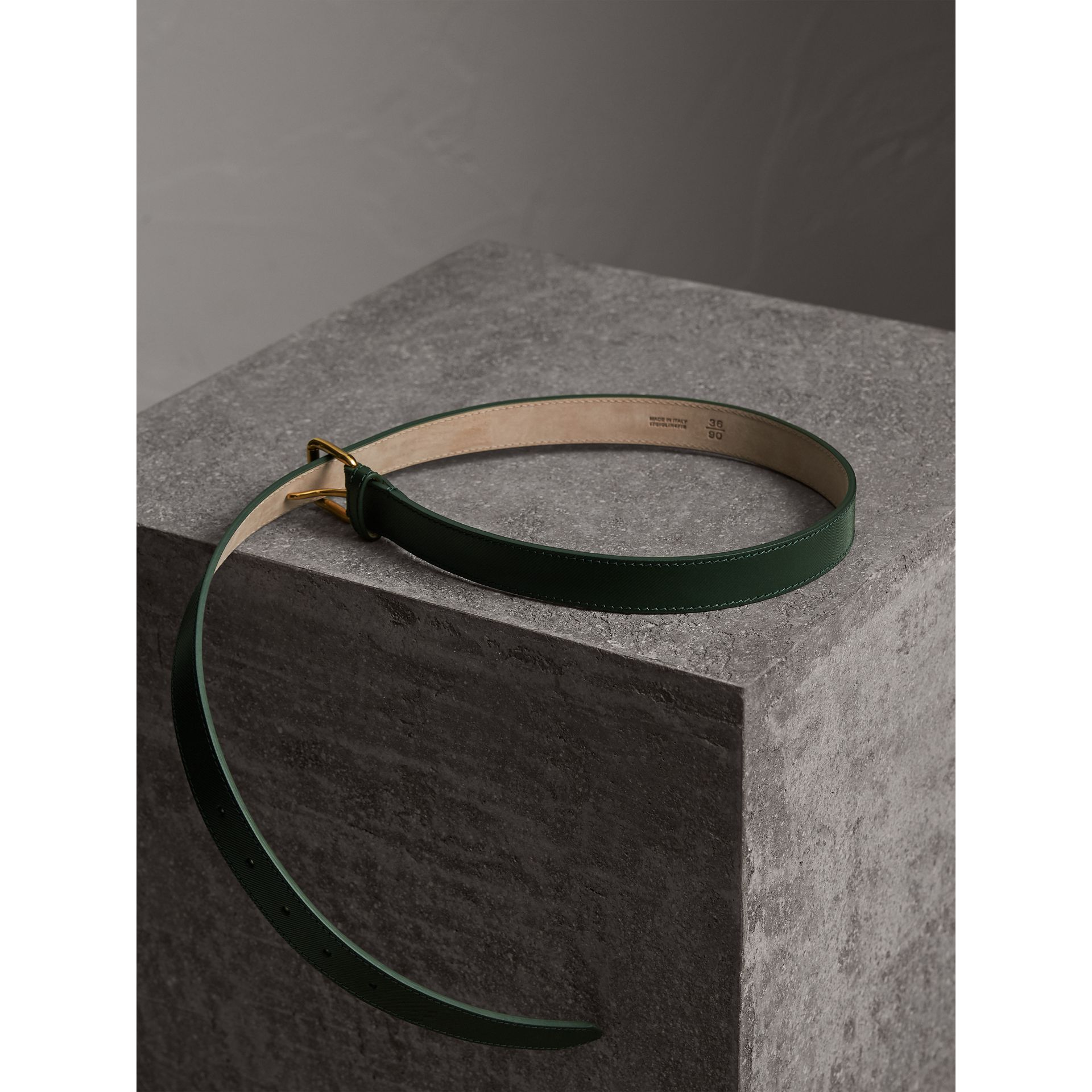 Trench Leather Belt in Dark Forest Green - Men | Burberry - gallery image 4