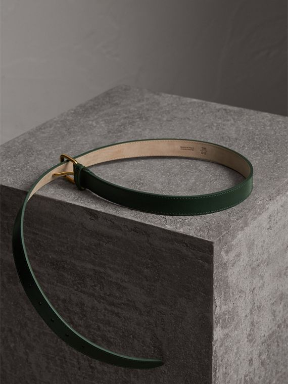 Trench Leather Belt in Dark Forest Green - Men | Burberry - cell image 3