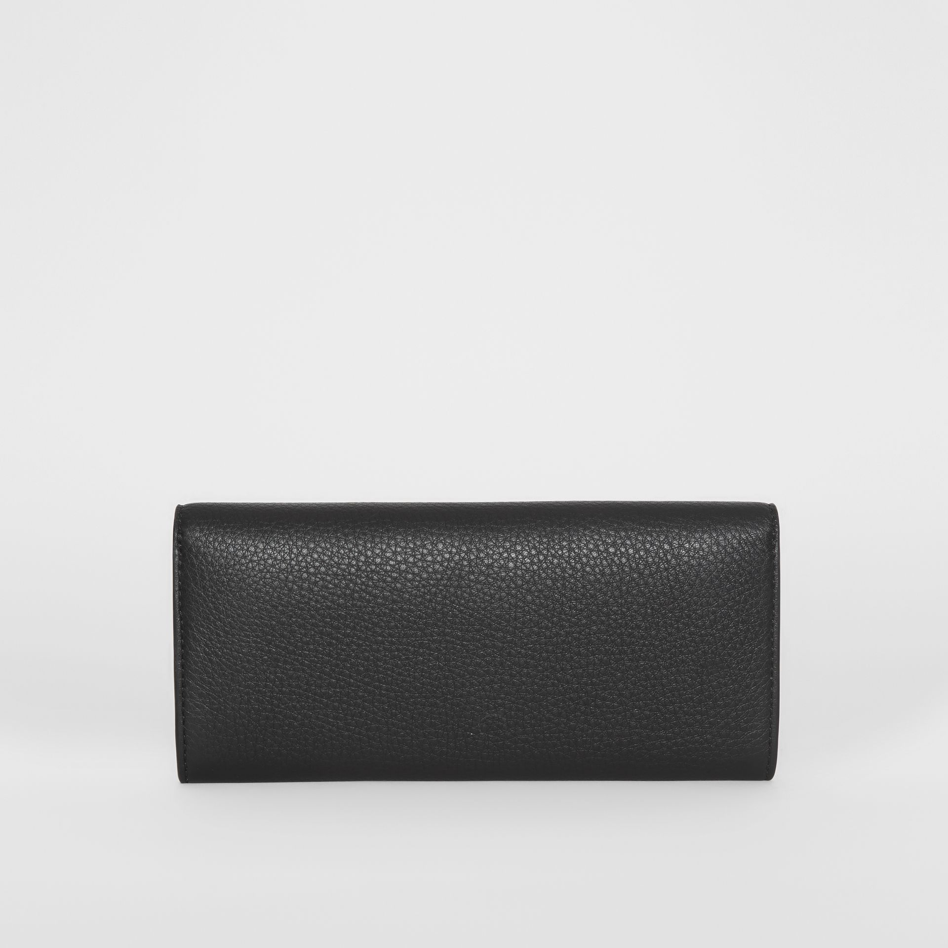 Leather Continental Wallet in Black - Women | Burberry - gallery image 5