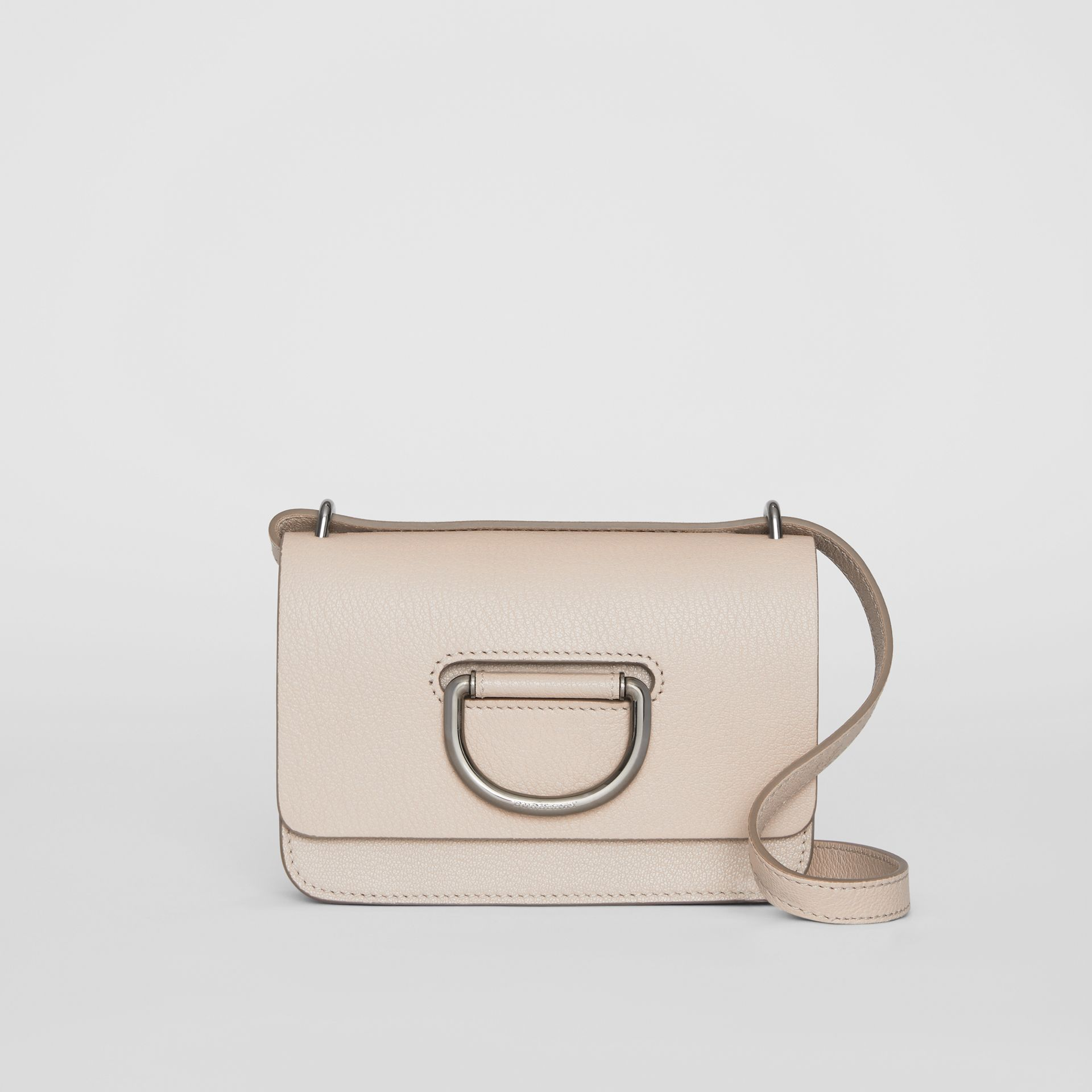 The Mini Leather D-ring Bag in Stone - Women | Burberry United Kingdom - gallery image 0