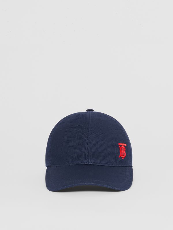 Monogram Motif Baseball Cap in Navy | Burberry Australia - cell image 3