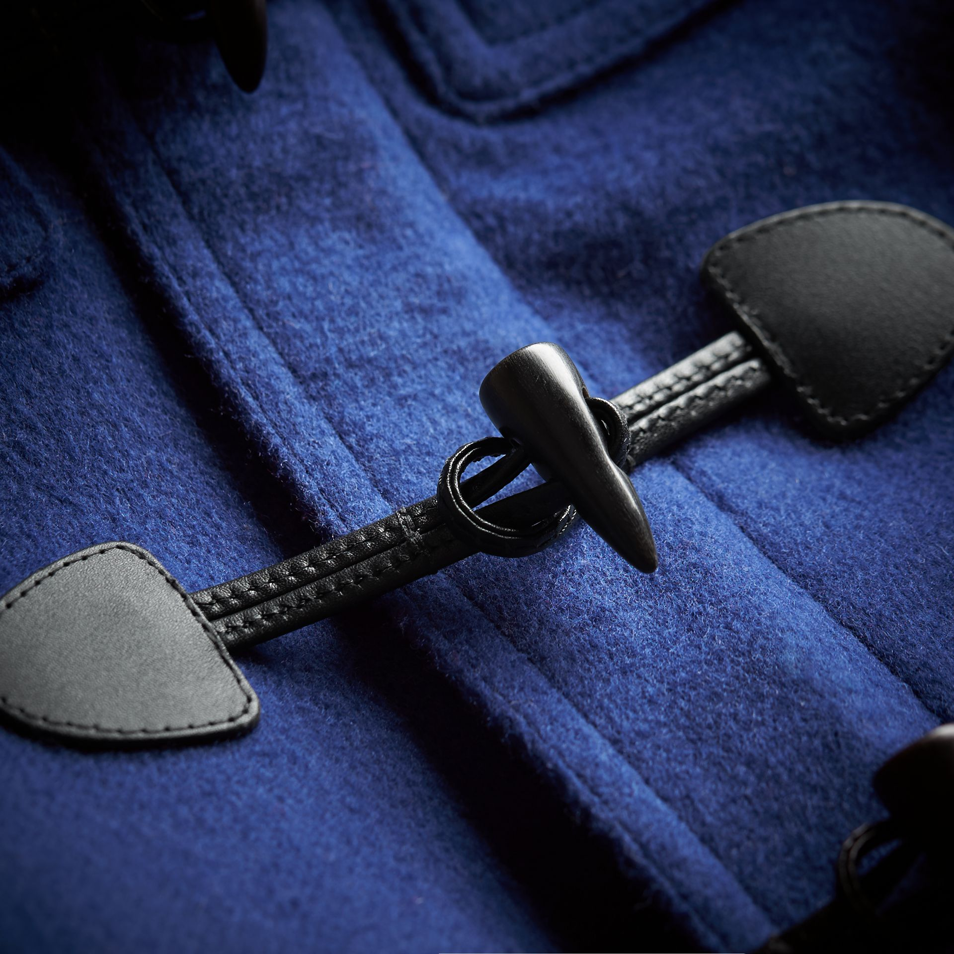 Hooded Wool Duffle Coat in Cobalt Blue - Boy | Burberry Canada - gallery image 2