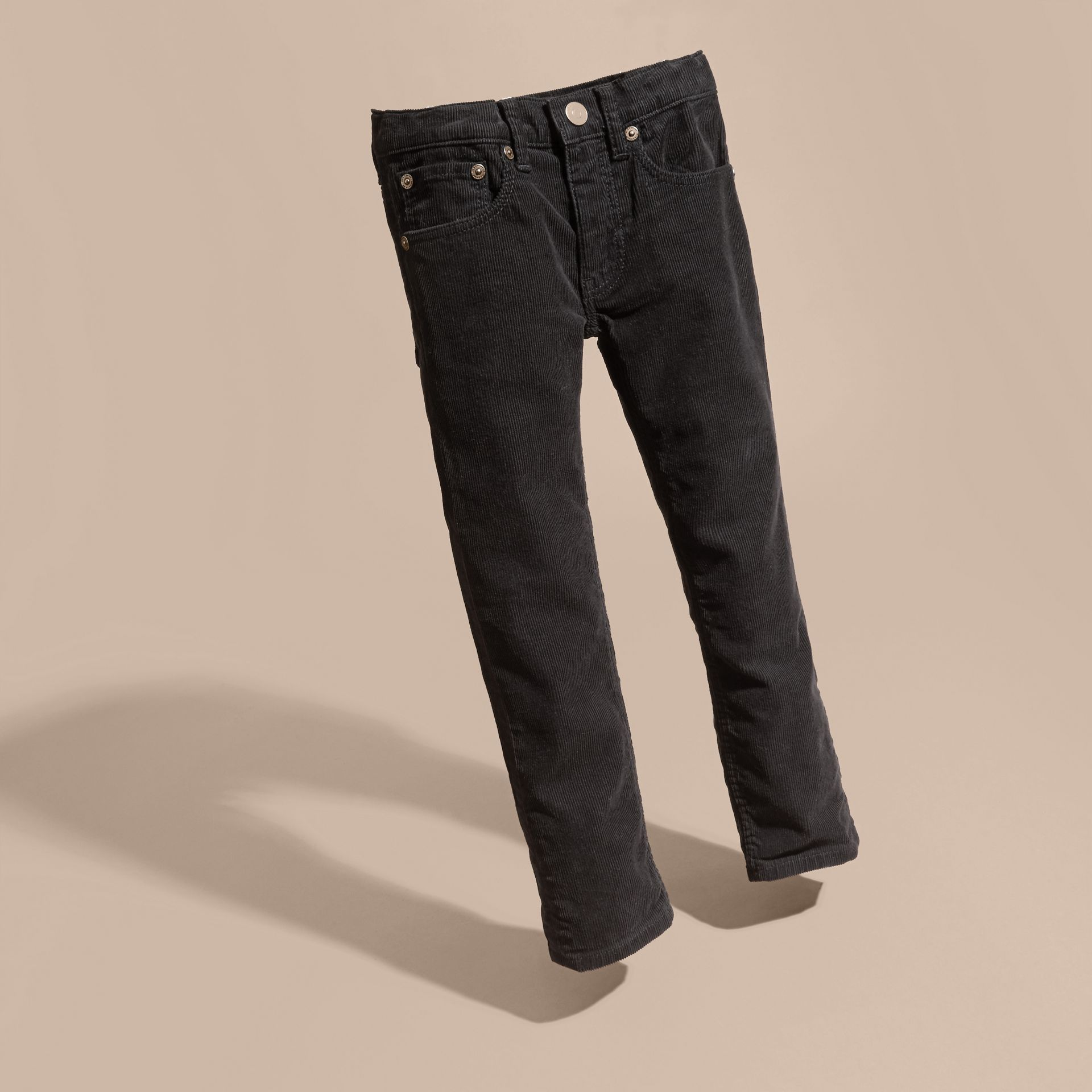 Black Stretch Corduroy Jeans Black - gallery image 3