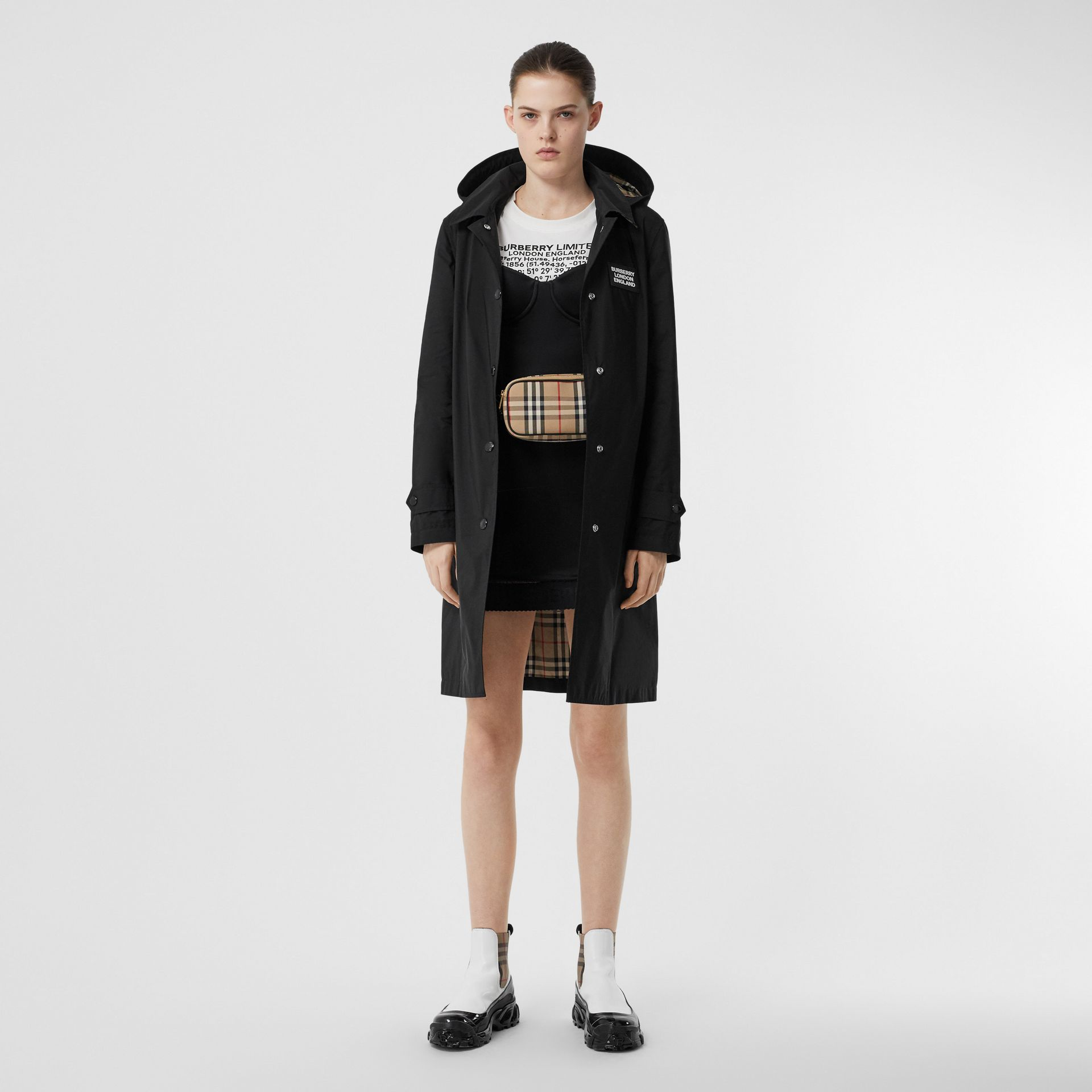 Detachable Hood Shape-memory Taffeta Car Coat in Black - Women | Burberry United Kingdom - gallery image 5