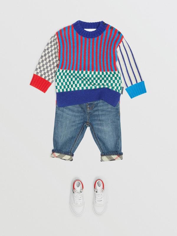 Graphic Cashmere Jacquard Sweater in Multicolour - Children | Burberry United Kingdom - cell image 2