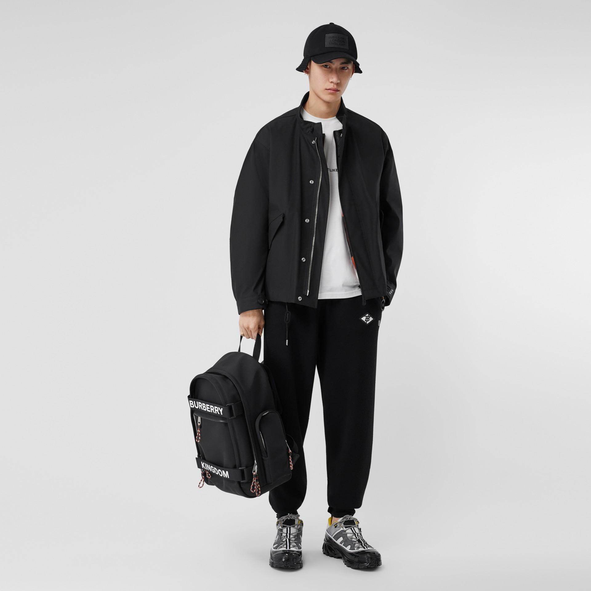 Veste en coton contrecollé avec gilet intérieur amovible (Noir) - Homme | Burberry - photo de la galerie 0