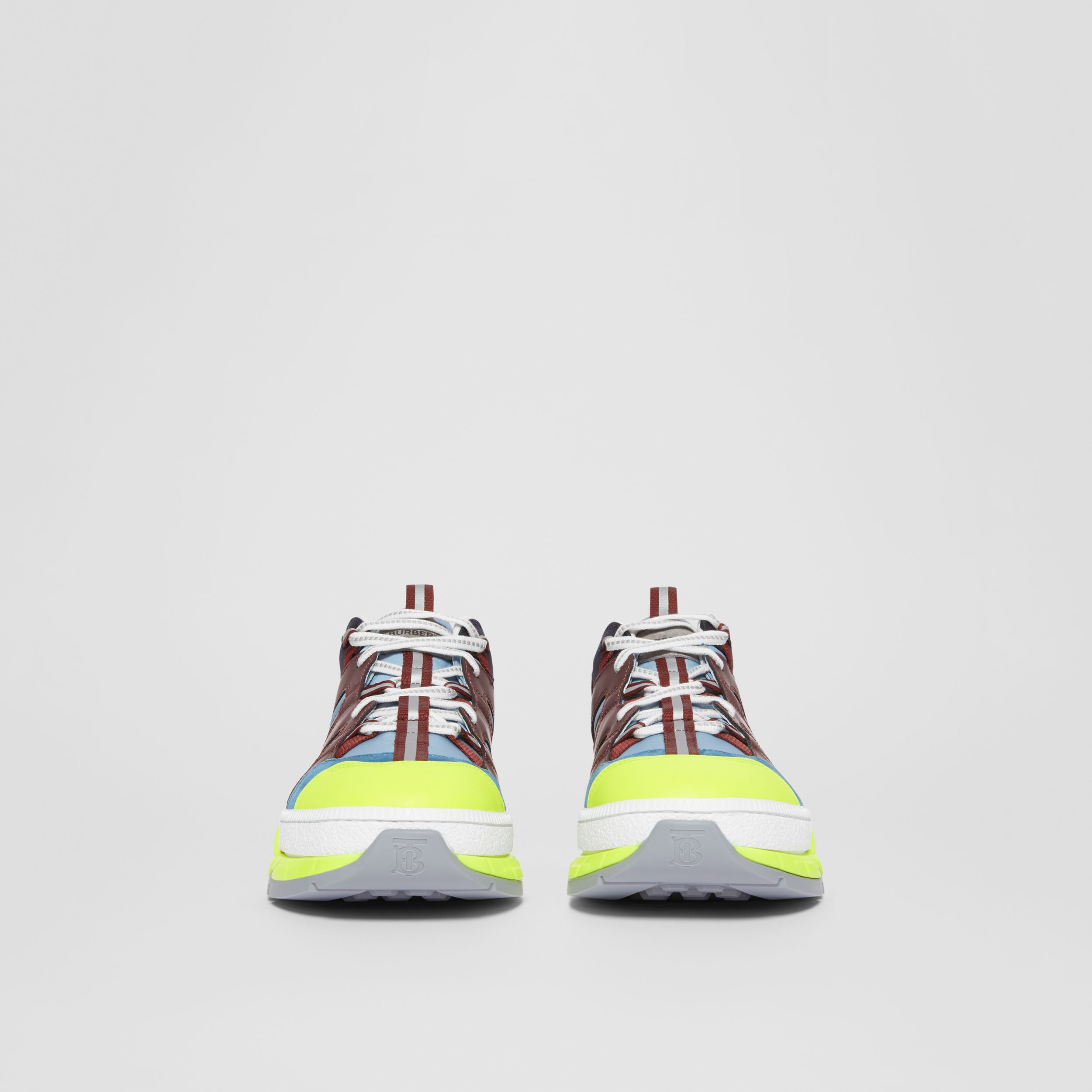 Nylon, Nubuck and Suede Union Sneakers in Blue/burgundy | Burberry - 4