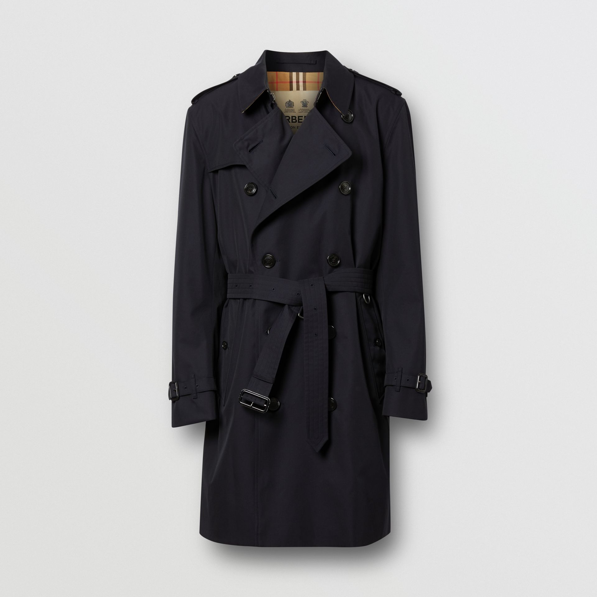 Cotton Gabardine Trench Coat in Midnight - Men | Burberry - gallery image 3