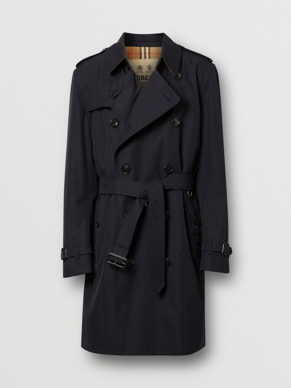 Cotton Gabardine Trench Coat in Midnight - Men | Burberry - cell image 3