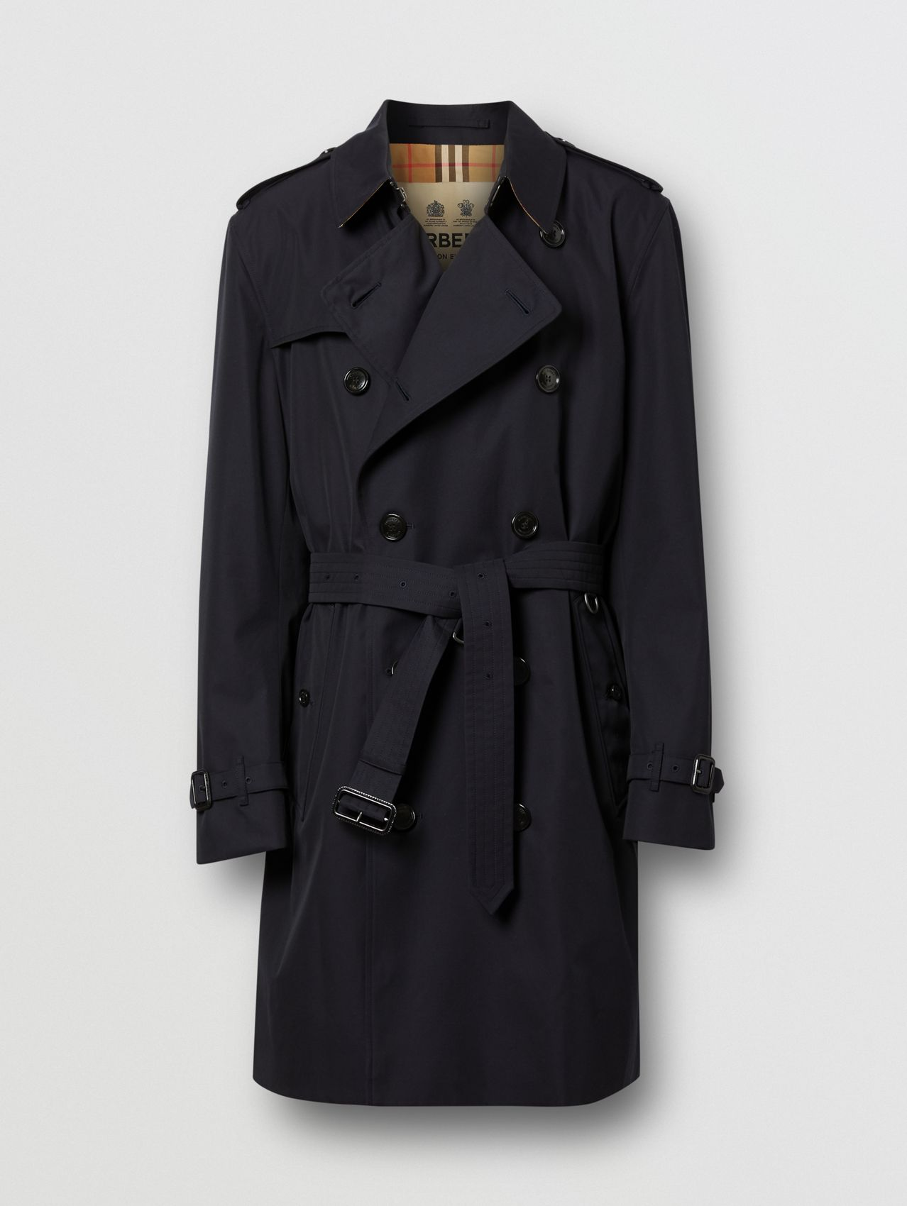 Trench coat Kensington de longitud media (Medianoche)