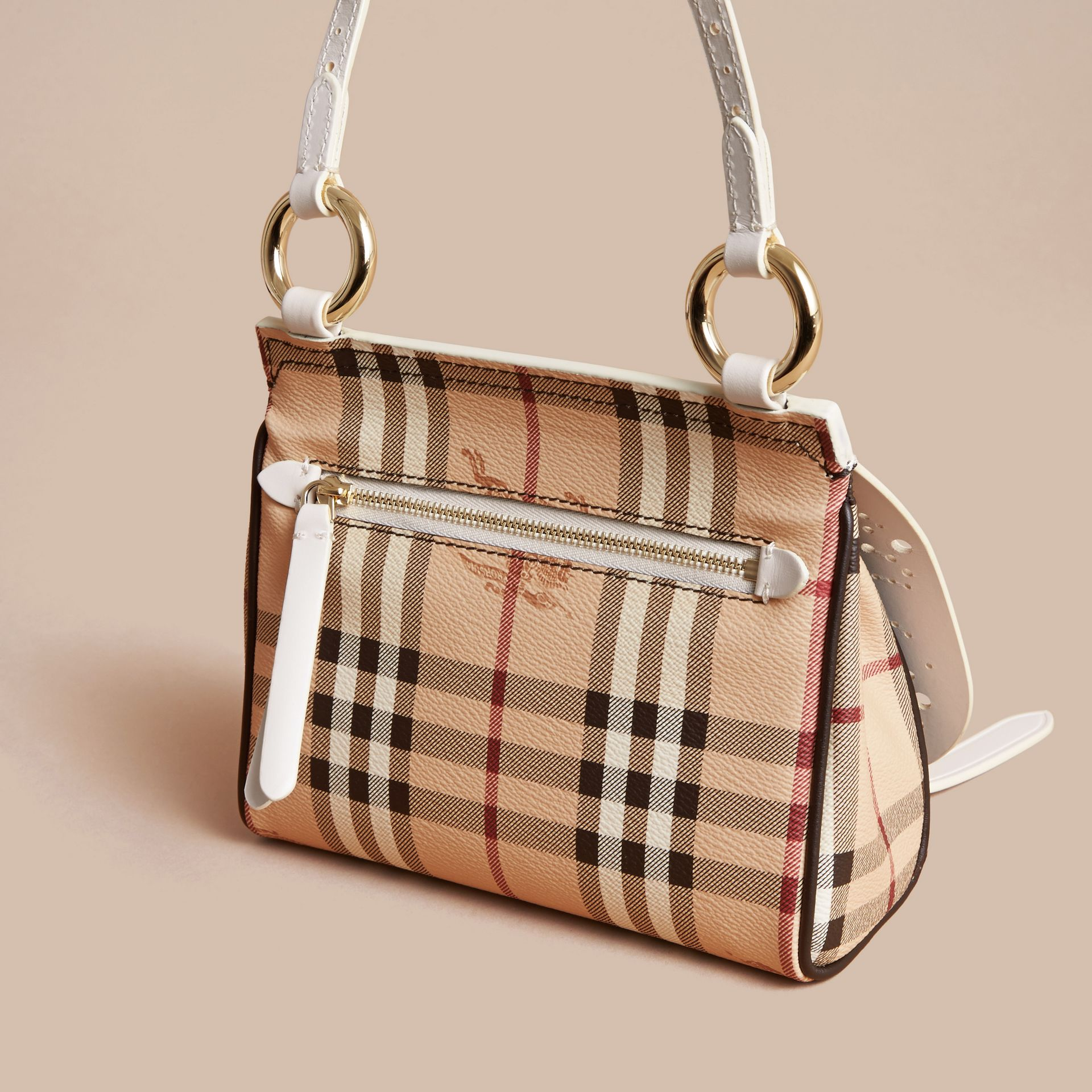 The Baby Bridle Bag in Leather and Haymarket Check Natural - gallery image 4