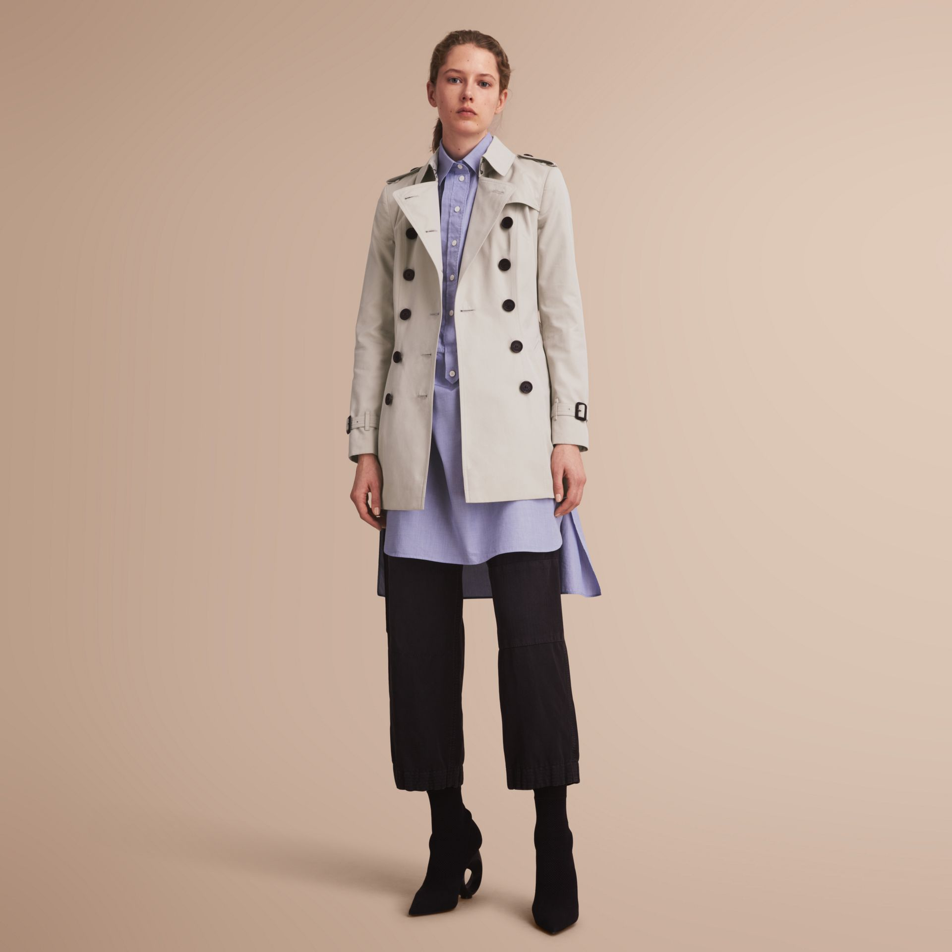 The Chelsea – Short Heritage Trench Coat Stone - gallery image 1
