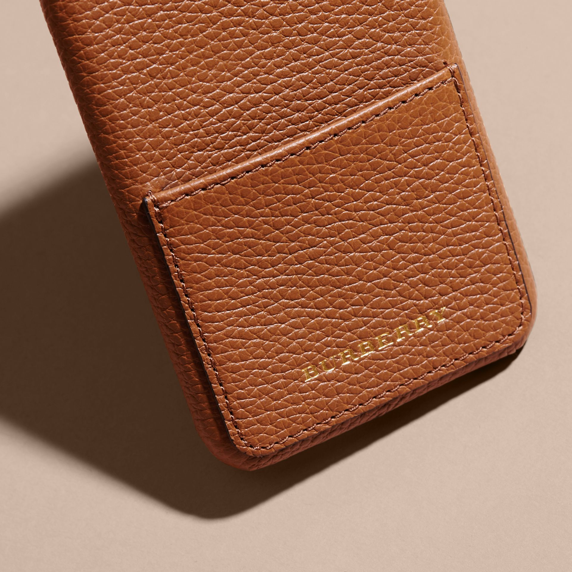 Tan Grainy Leather iPhone 6 Case - gallery image 2