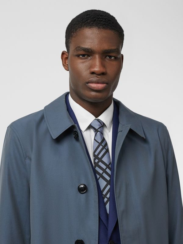 Classic Cut Check Silk Jacquard Tie in Chalk Blue - Men   Burberry - cell image 2