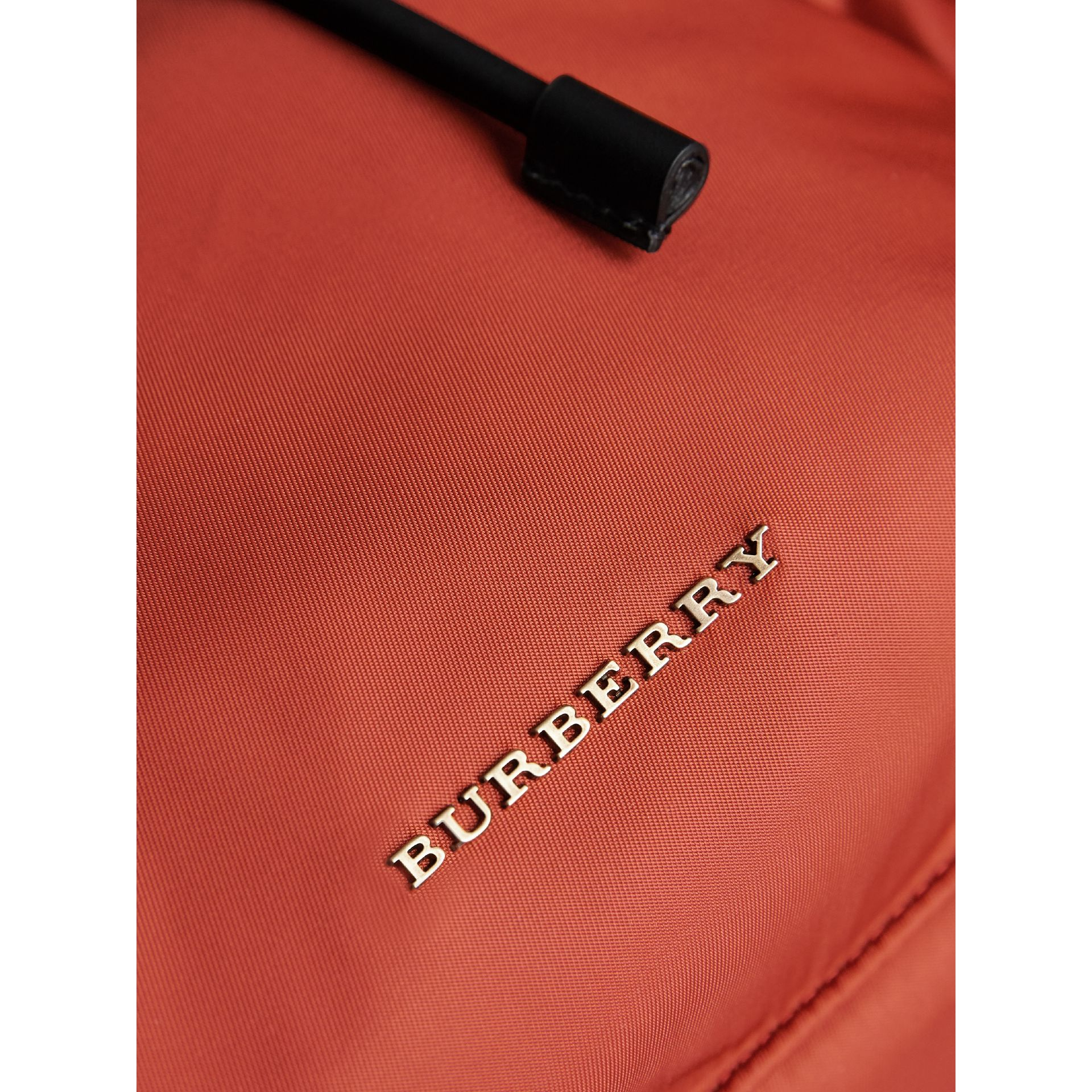 The Large Rucksack in Technical Nylon and Leather in Redwood - Men | Burberry - gallery image 6