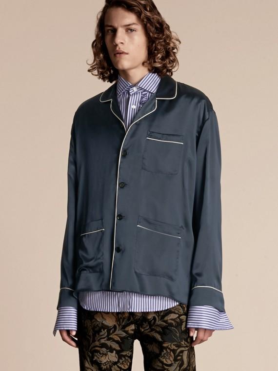 絲質睡衣式襯衫