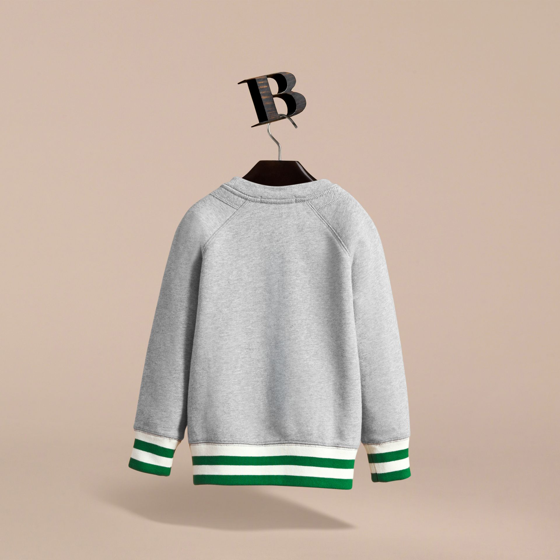 Contrast Stripe Cotton Jersey Sweatshirt - Boy | Burberry - gallery image 3