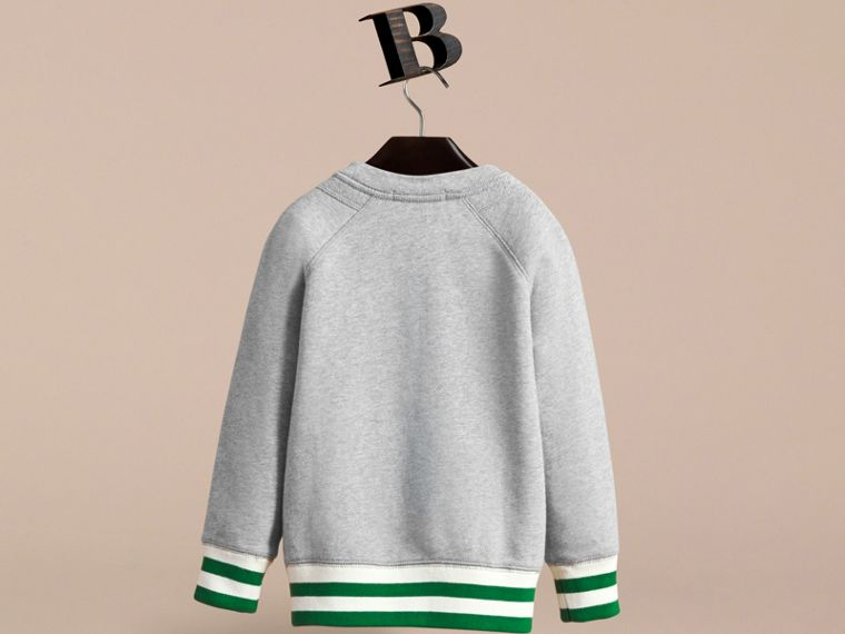 Contrast Stripe Cotton Jersey Sweatshirt - Boy | Burberry - cell image 2