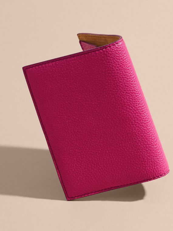 Grainy Leather Passport Holder in Brilliant Fuchsia - Women | Burberry - cell image 2
