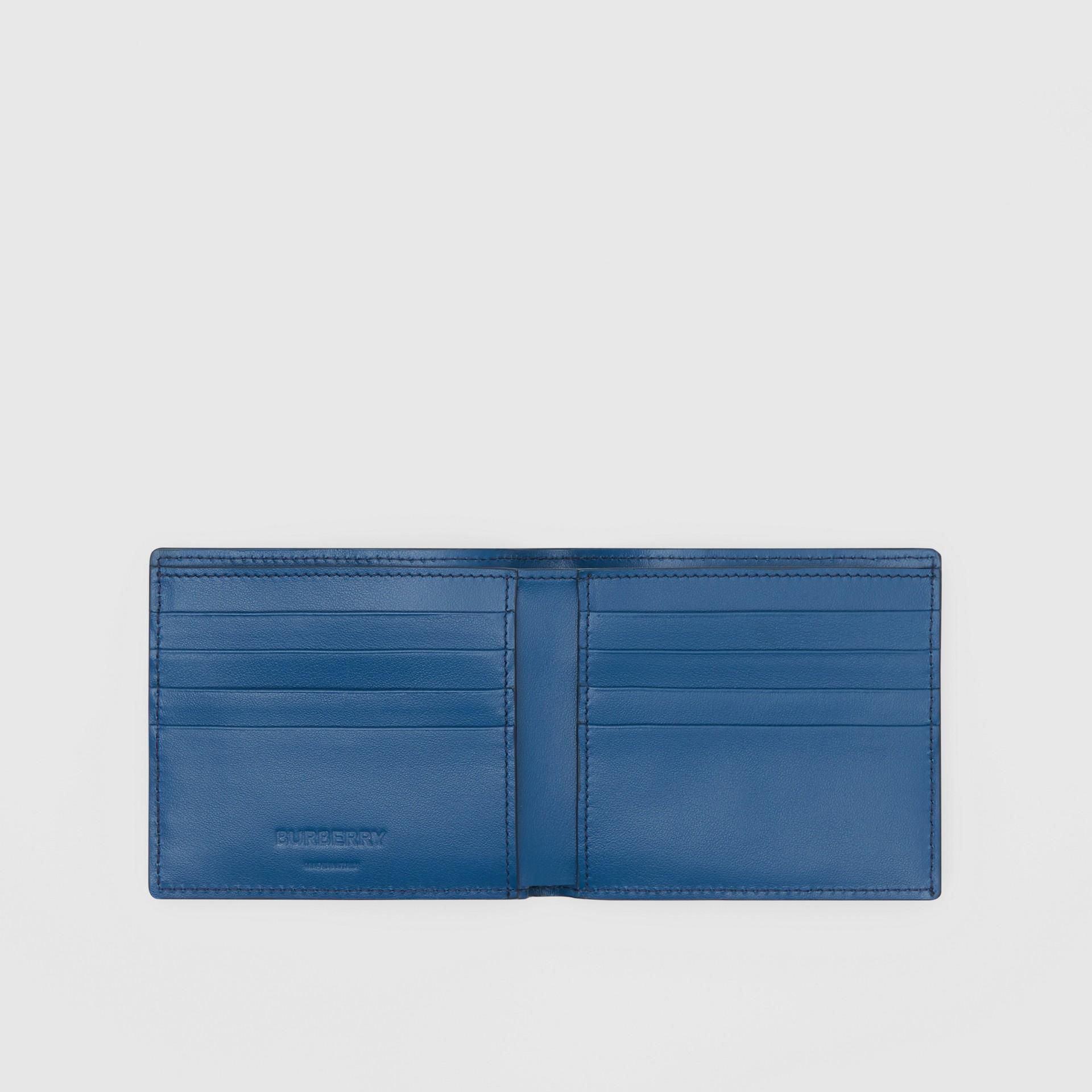 Monogram Leather International Bifold Wallet in Pale Canvas Blue - Men   Burberry - gallery image 2