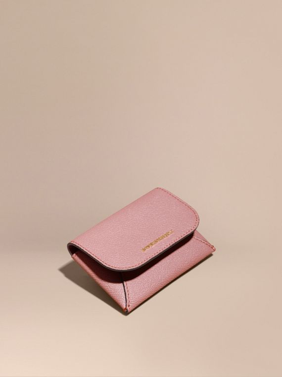 Leather Coin Case with Removable Card Compartment in Dusty Pink - Women | Burberry