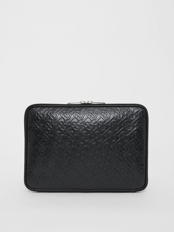 Monogram Leather Digital Case in Black