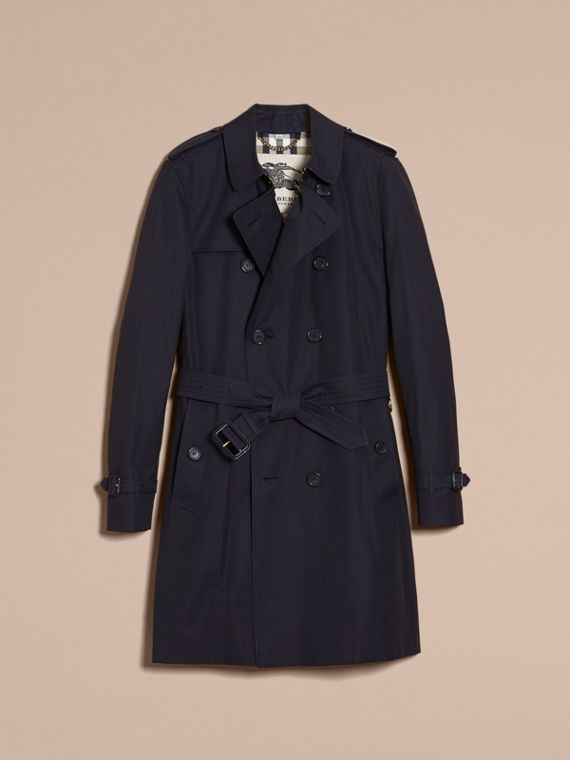 Marineblau The Kensington – Langer Heritage-Trenchcoat Marineblau - cell image 3