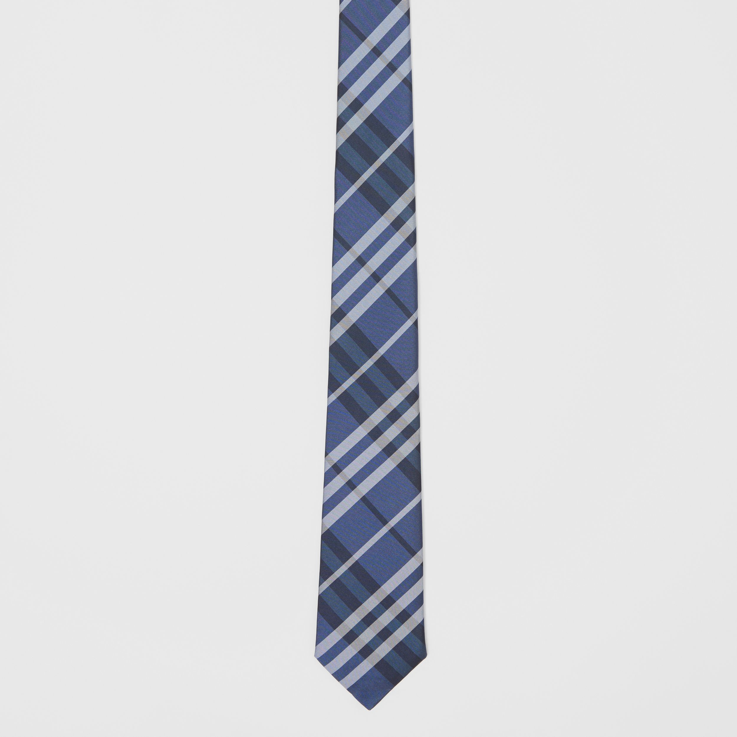 Classic Cut Vintage Check Silk Tie in Bright Navy - Men | Burberry - 4
