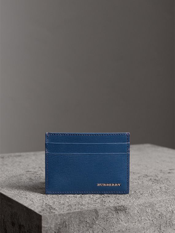 London Leather Card Case in Deep Blue - Men | Burberry United Kingdom - cell image 3