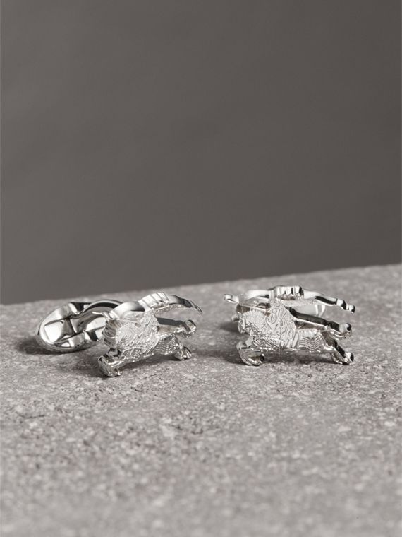 Equestrian Knight Cufflinks in Silver