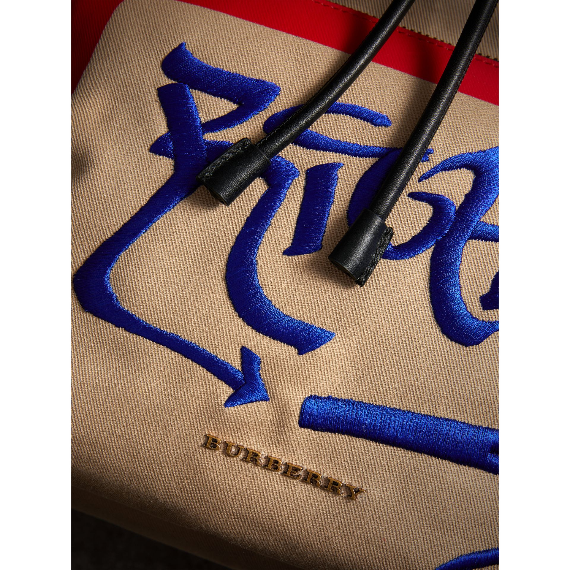 Burberry x Kris Wu The Extra Large Rucksack in Honey - Men | Burberry Hong Kong - gallery image 1