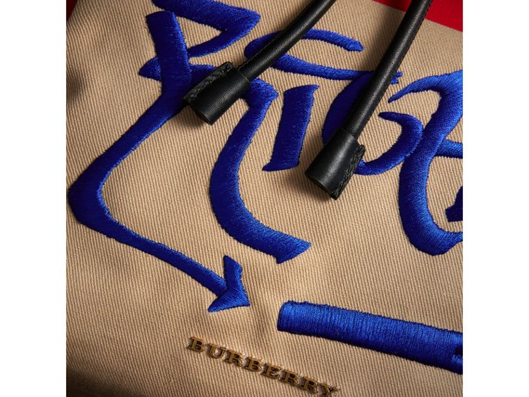 Burberry x Kris Wu The Extra Large Rucksack in Honey - Men | Burberry United States - cell image 1