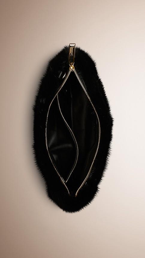 Black Mink Clutch Bag - Image 4