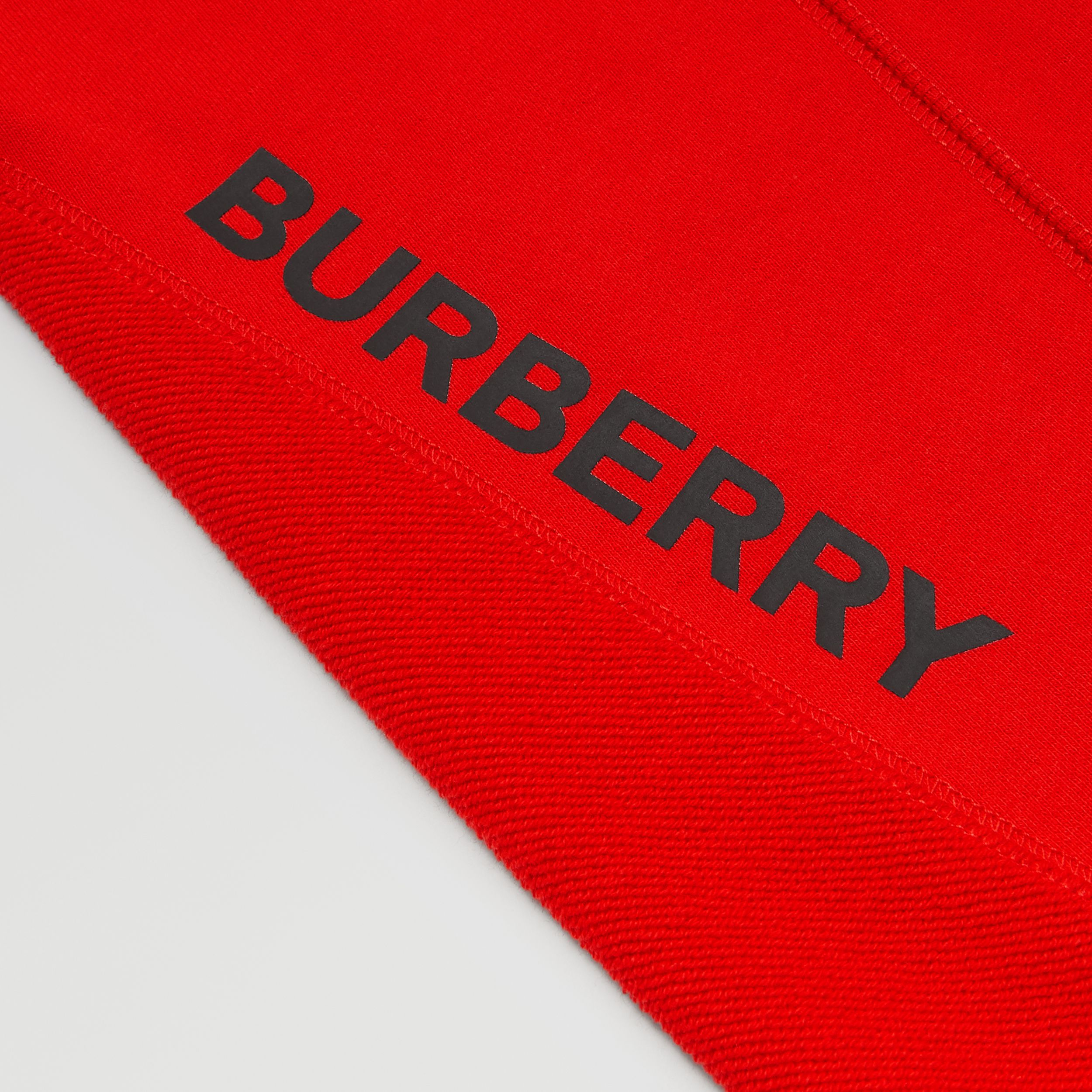 Logo Graphic Cotton Trackpants in Bright Red | Burberry - 2