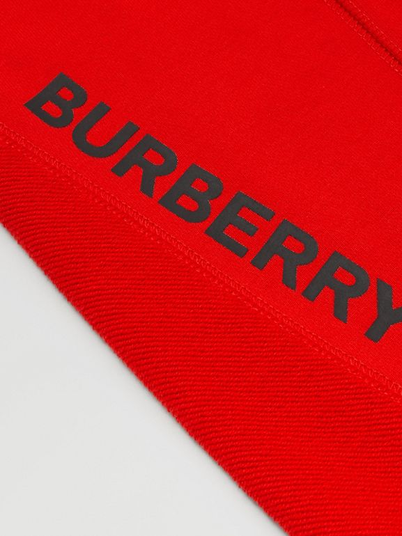 Logo Graphic Cotton Trackpants in Bright Red - Boy | Burberry United States - cell image 1