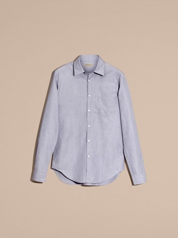 Light blue Camisa de mescla de algodão Light Blue - cell image 3