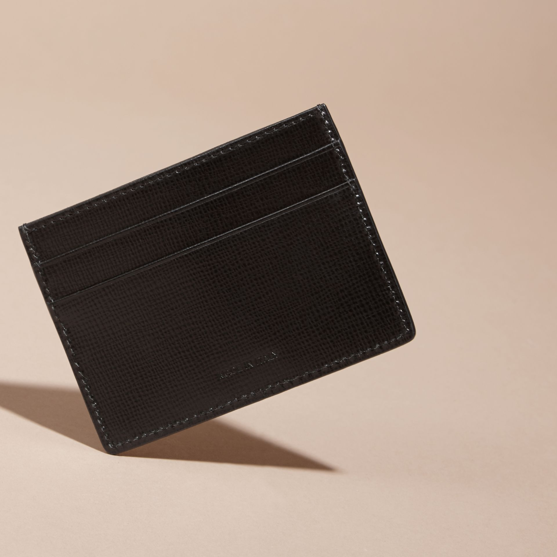 London Leather Card Case in Black | Burberry - gallery image 4