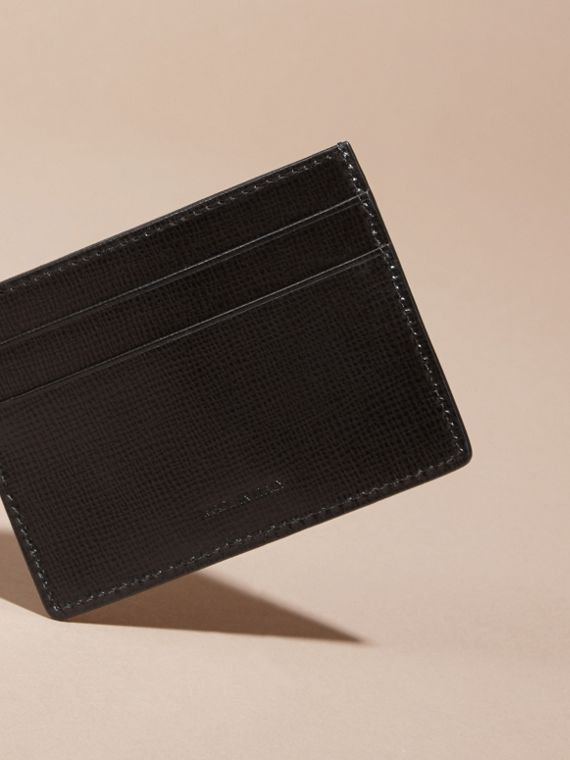 Black London Leather Card Case Black - cell image 3