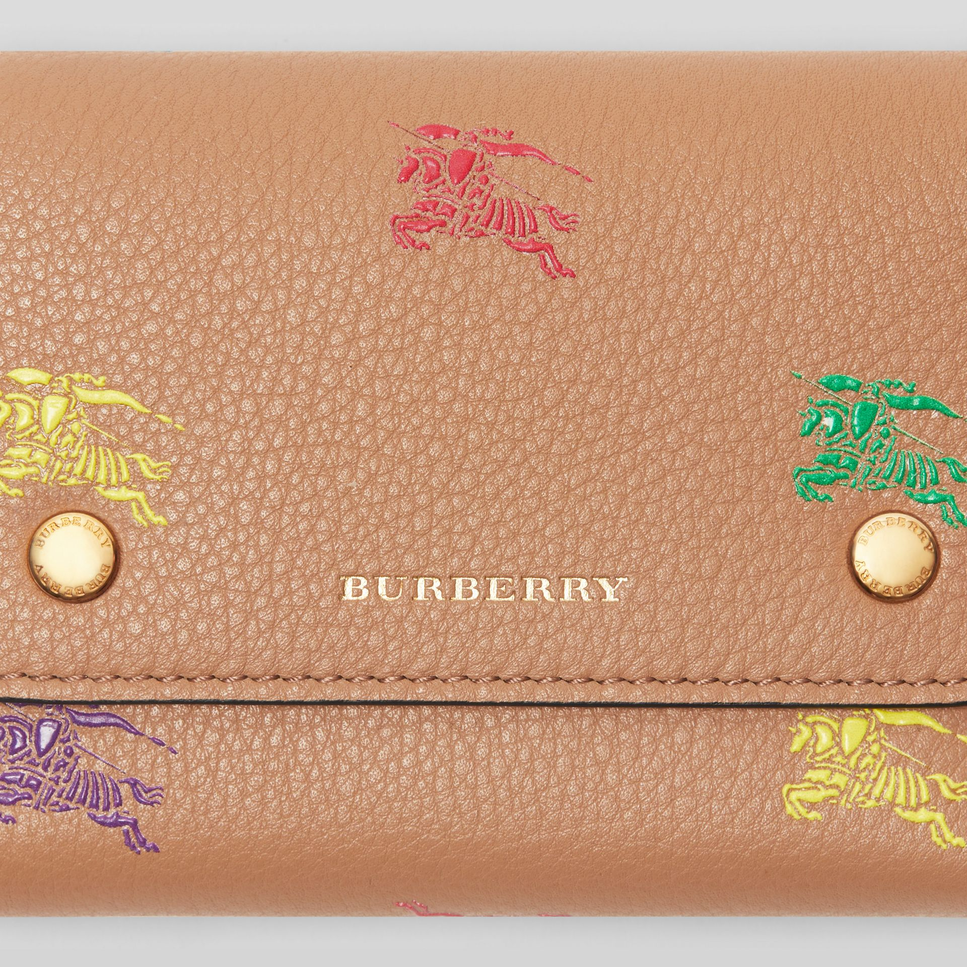 Small EKD Leather Wallet in Light Camel - Women | Burberry Canada - gallery image 1