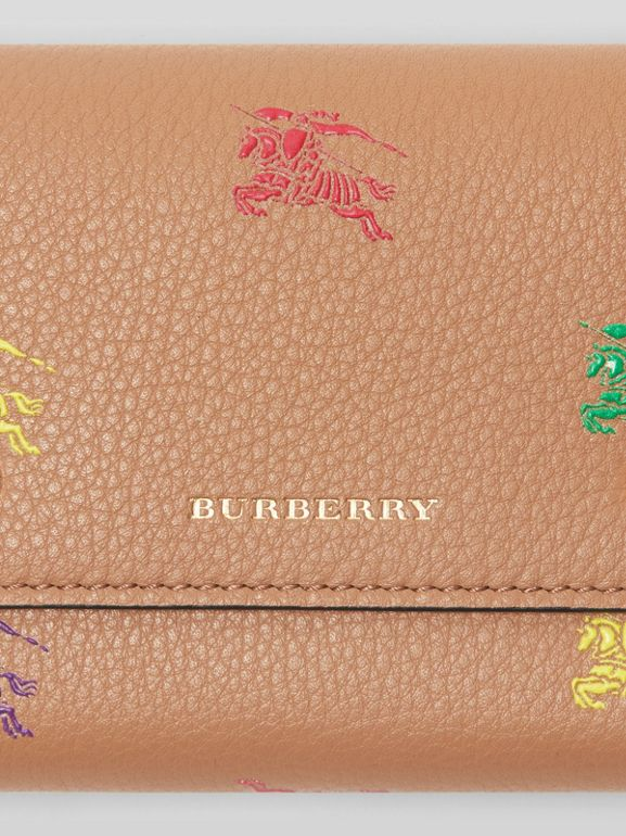 Small EKD Leather Wallet in Light Camel - Women | Burberry Canada - cell image 1