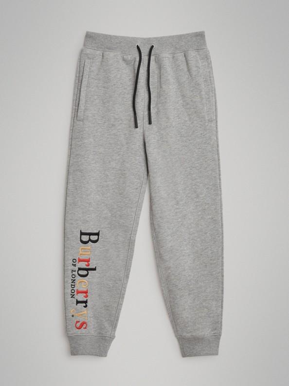 Pantalon de survêtement en coton avec logo d'archive brodé (Camaïeu  Gris)