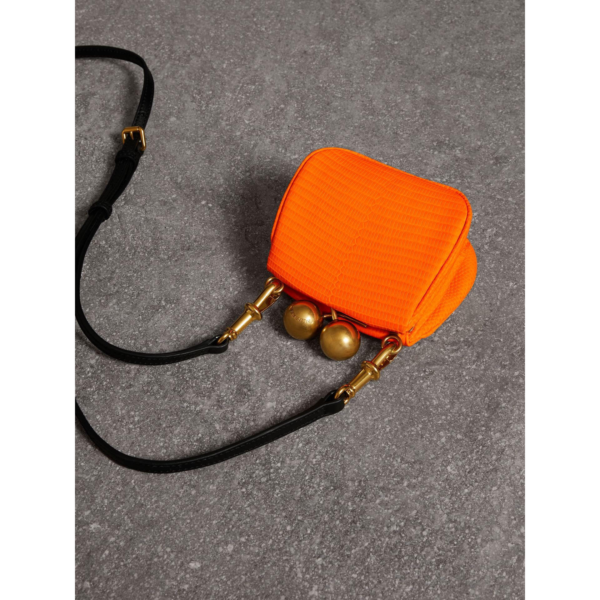 Mini Lizard Frame Bag in Neon Orange - Women | Burberry - gallery image 2