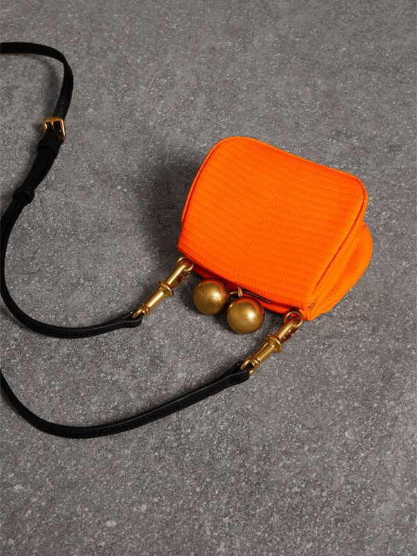 Mini Lizard Frame Bag in Neon Orange - Women | Burberry - cell image 2