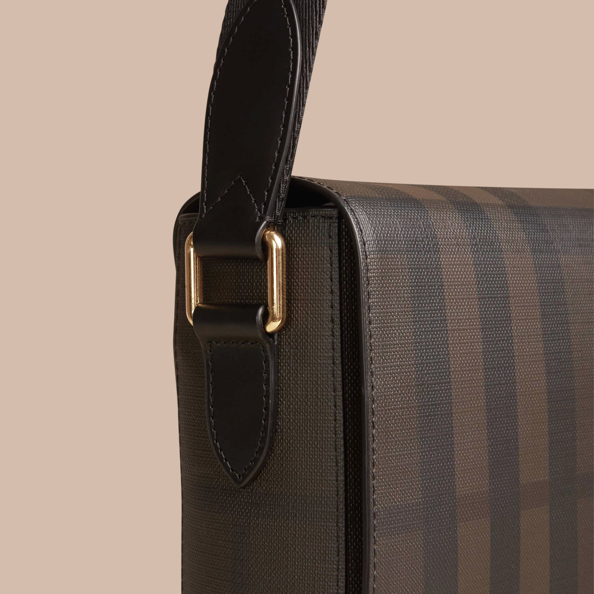 Chocolate/black Small London Check Messenger Bag Chocolate/black - gallery image 6