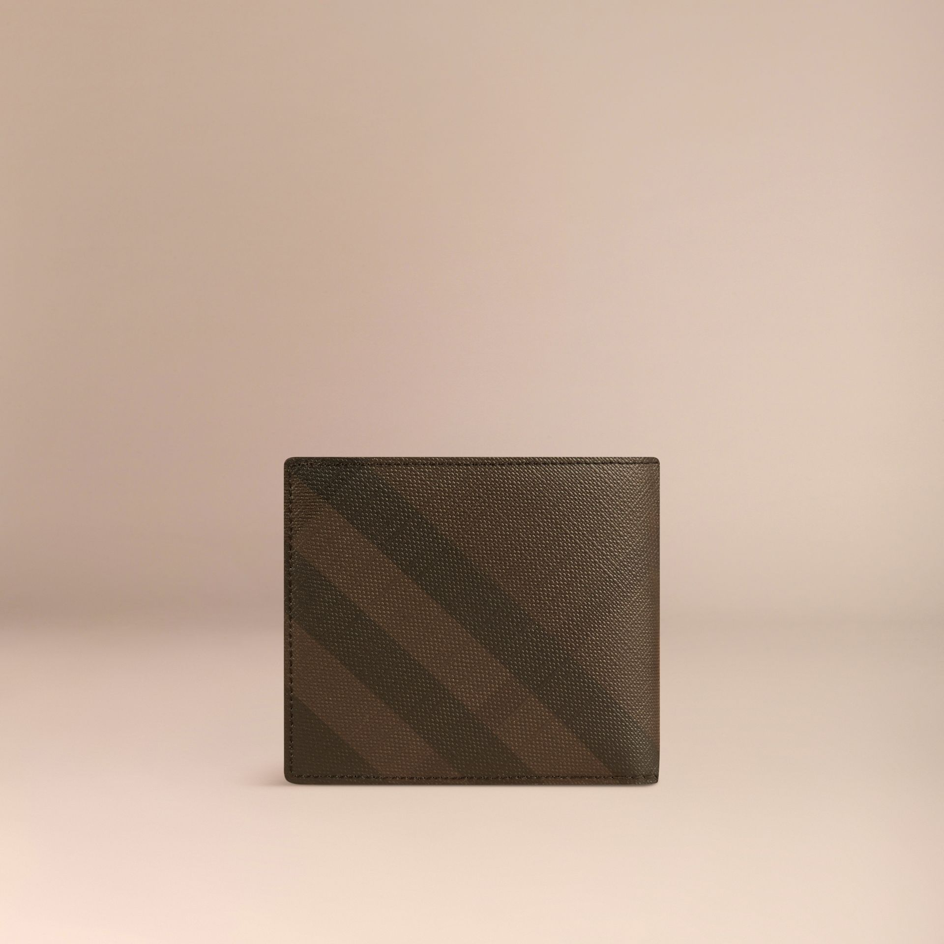 London Check Folding Wallet Chocolate/black - gallery image 3