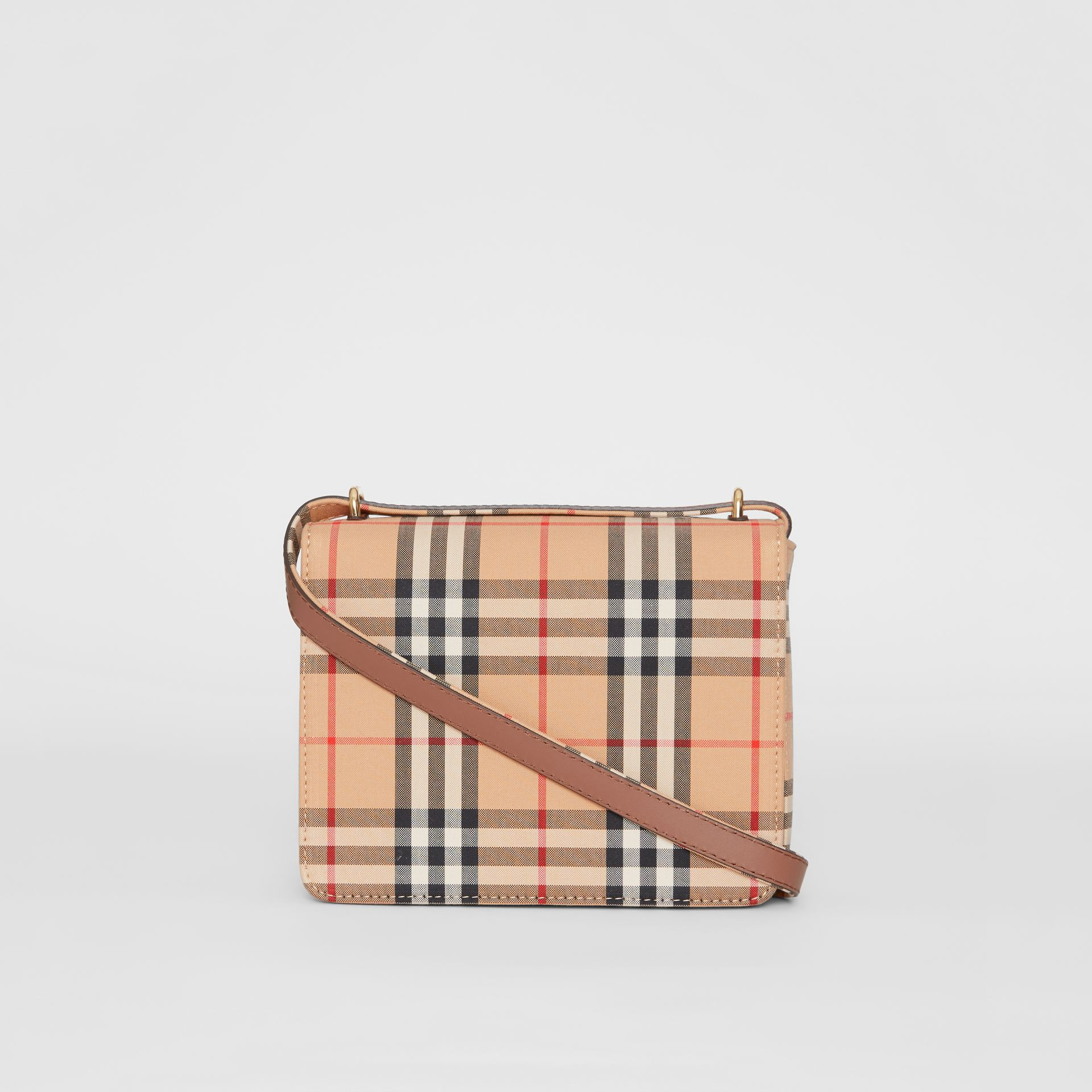The Small Vintage Check D-ring Bag in Archive Beige - Women | Burberry United Kingdom - gallery image 7